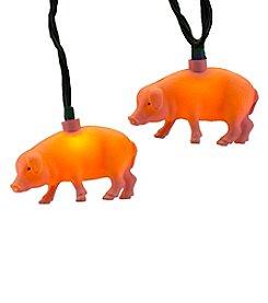 Kurt Adler 10-Light Pink Pig Light Set