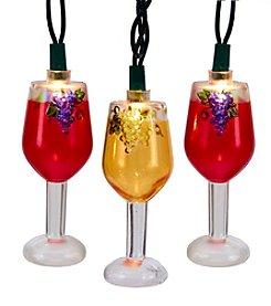 Kurt Adler 10-Light Wine Glass Light Set