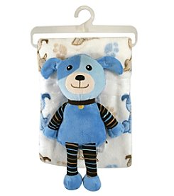 Stephan Baby Blanket and Plush Dog Set