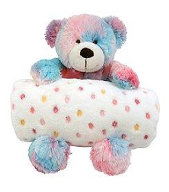 Stephan Baby Multi-Dot Blanket and Tie-Dye Bear