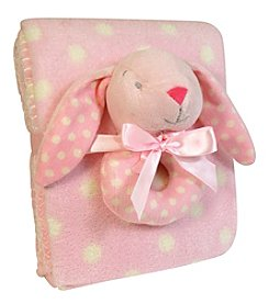 Stephan Baby Bunny Rattle and Blanket Set