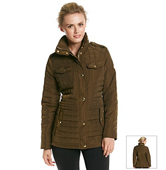 MICHAEL Michael Kors Zip Front Anorak With Gold Hardware