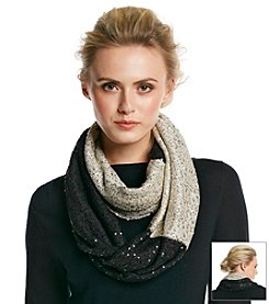 DKNYC® Sequin Yarn Infinity Scarf