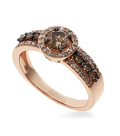 Effy® 0.83 ct. t.w. Espresso Diamond Ring in 14K Rose Gold