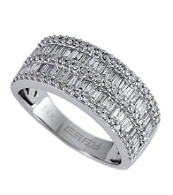 Effy® 1.11 ct. t.w. Diamond Baguette Band Ring in 14K White Gold