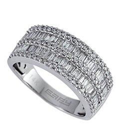 Effy® 1.11 ct. t.w. Diamond Baguette Band Ring in 14K White Gold