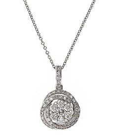 Effy® 0.53 ct. t.w. Diamond Pendant Necklace in 14K White Gold