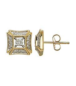 0.25 ct. t.w. Diamond Earrings in 10K Yellow Gold