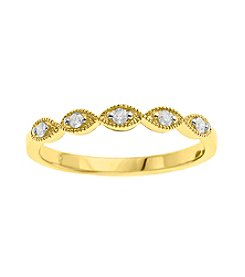 0.10 ct. t.w. Diamond Band Ring in 10K Yellow Gold