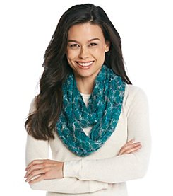 Relativity® Diamond Feather Yarn Infinity Scarf