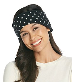 Relativity® Black & White Dot Fleece Headband