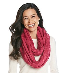 Relativity® Sequin Cable Infinity Scarf