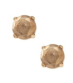 Lucky Brand® Goldtone Crystal Stud Earrings