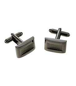 Kenneth Roberts Platinum® Men's Gunmetal Rectangular Cufflink