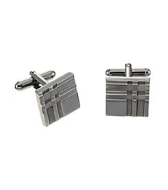 Kenneth Roberts Platinum® Men's Black Nickel Square Cufflink