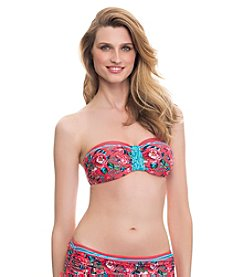 Profile Blush by Gottex® Shangri La Bandeau D-Cup & Up Top