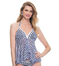 Profile Blush by Gottex® Sail Away Tankini D-Cup & Up Swim Top
