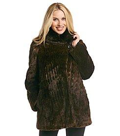 Jones New York® Ombre Leopard Faux Fur Coat