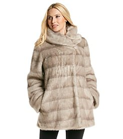 Jones New York® Mink Swing Faux Fur Coat
