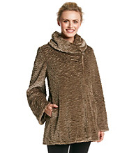 Jones New York® Persian Swing Faux Fur Coat