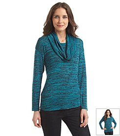 Jones New York Signature® Knit Tunic With Detachable Cowlneck