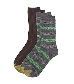 GOLD TOE® Fair Isle / Rib Socks - 2 Pk.