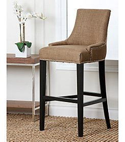 Abbyson Living� Benson Fabric Nailhead Trim Bar Stool