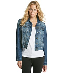 Jessica Simpson London Wash Pixie Long Sleeve Denim Jacket