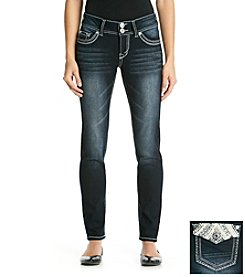Wallflower® Bling Flap Pocket Curvy Skinny