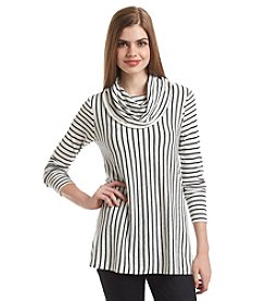 Chelsea & Theodore® Cowlneck Stripe Sweater