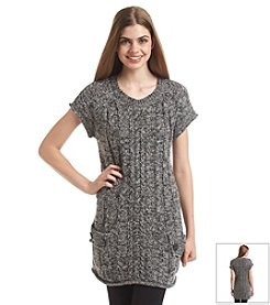 Fever™ Short Sleeve Sweater Tunic