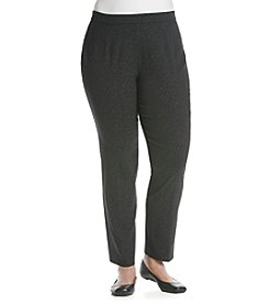 Prophecy Plus Size Pull On Cheetah Print Stretch Pants