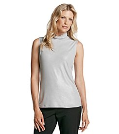 Laura Ashley® Mock Scrunch Neck Tank