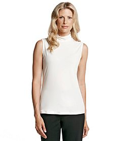 Laura Ashley® Mock Scrunch Neck Sleeveless Tank