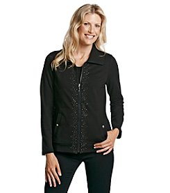 Laura Ashley® Petites' Studded Placket Jacket
