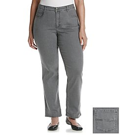 Laura Ashley® Plus Size Grey Straight Leg Denim Jeans