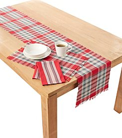 Ruff Hewn Red and Grey Plaid Table Linens