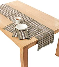 Ruff Hewn Green and Brown Plaid Table Linens