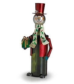 Pfaltzgraff® Winterberry Snowman Wine Bottle Holder