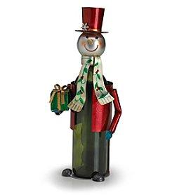 Pfaltzgraff® Winterberry Snowman Wine Bottle Holder