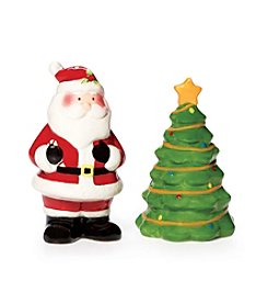 Pfaltzgraff® Santa And Tree Salt And Pepper Set