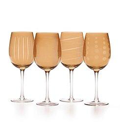Mikasa® Cheers Holiday Amber Set Of 4 Wine Glasses