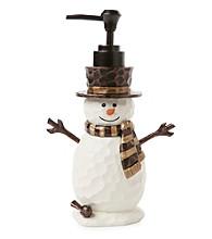 Saturday Knight, Ltd.® Woodcut Snowman Lotion Pump