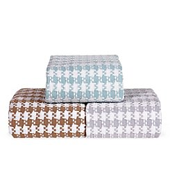 Elite Home Products Grand Hotel Cotton Yarn-Dyed Check Blankets