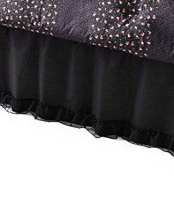 Betsey Johnson® Black Ruffled Bed Skirt