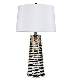 Chic Designs Limerick Chrome Ceramic Decorative Table Lamp
