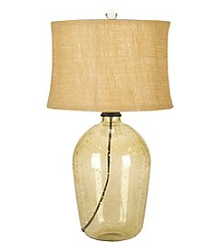 Chic Designs Galway Green Glass Decorative Table Lamp