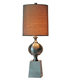 Chic Designs Navan Nickel Metal Decorative Table Lamp