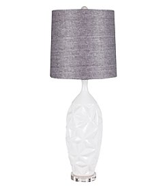 Chic Designs Muine White Ceramic Decorative Table Lamp