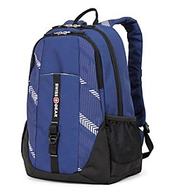 SwissGear® Navy Latitude and Track Print Backpack